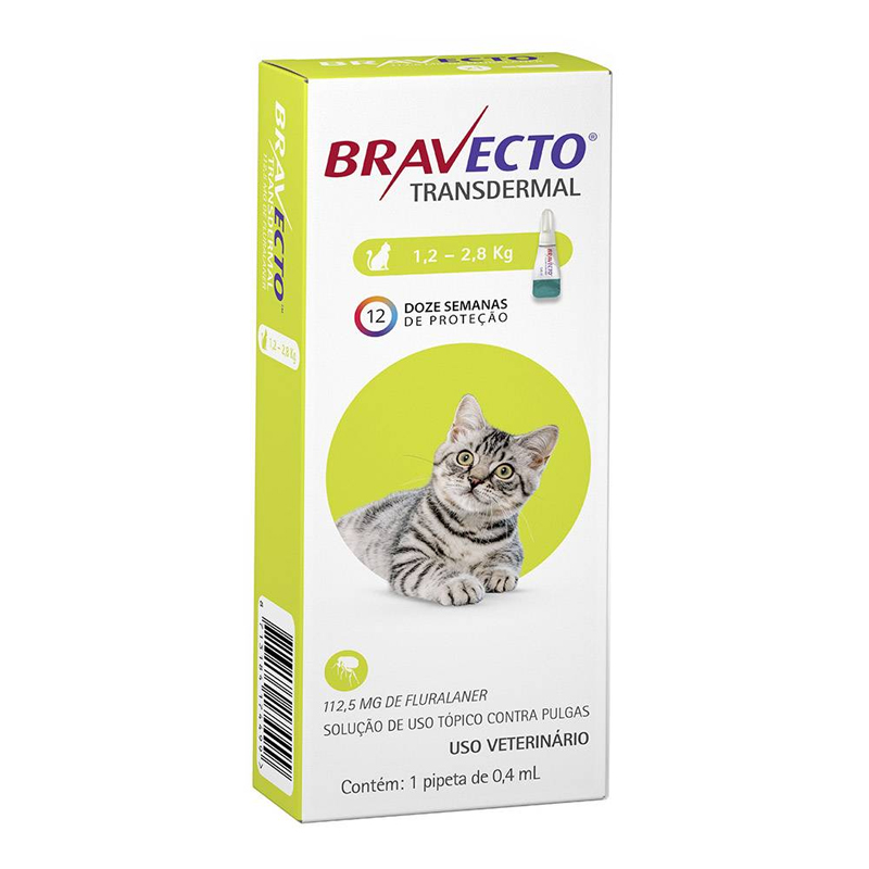 BRAVECTO TRANSDERMAL GATOS  500MG 12KG ROXO