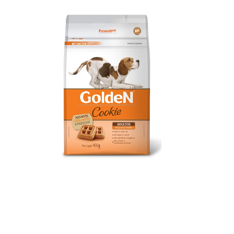 COOKIE GOLDEN ADULTO PEQUENO PORTE 400G